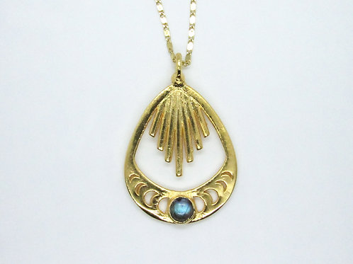 Dripping Moon Phase Necklace
