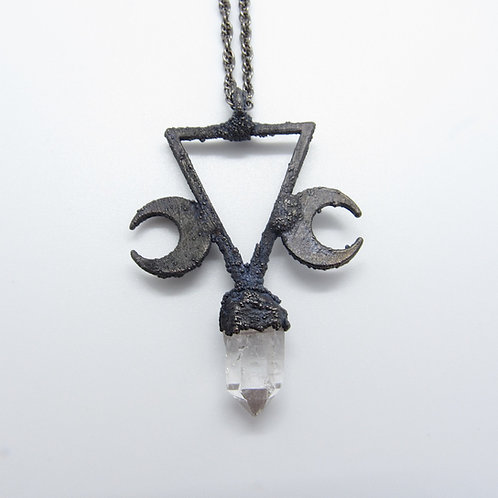 Triangle moon pendant