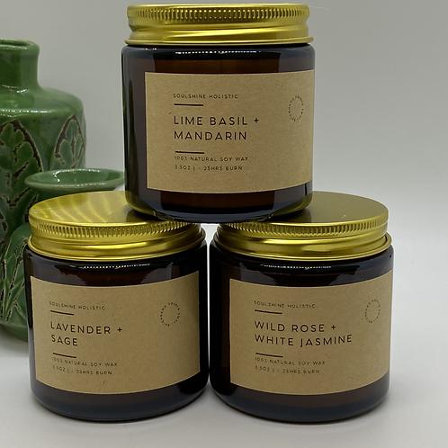 Set Of 3 Invigorating Aromatherapy Candles