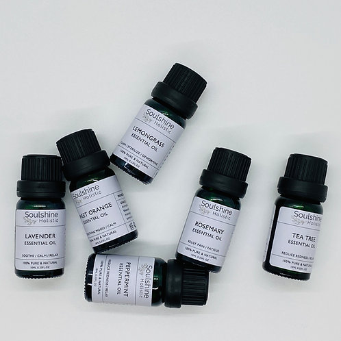 Set of 6 Pure & Natural Essential Oil Singles