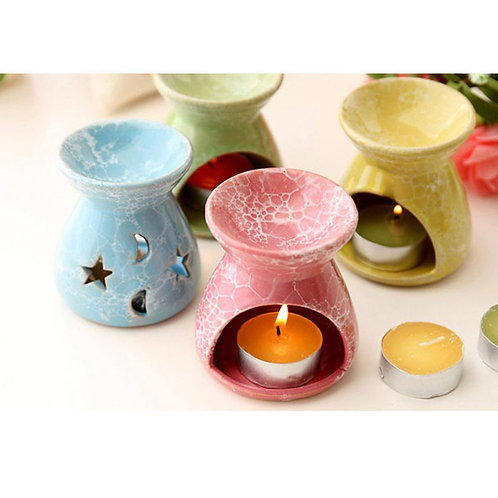 Ceramic Stars & Moon Pattern Essential oil burner