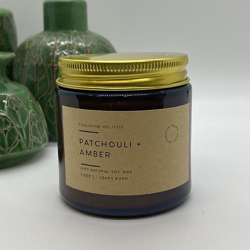 Patchouli + Amber Aromatherapy Candle