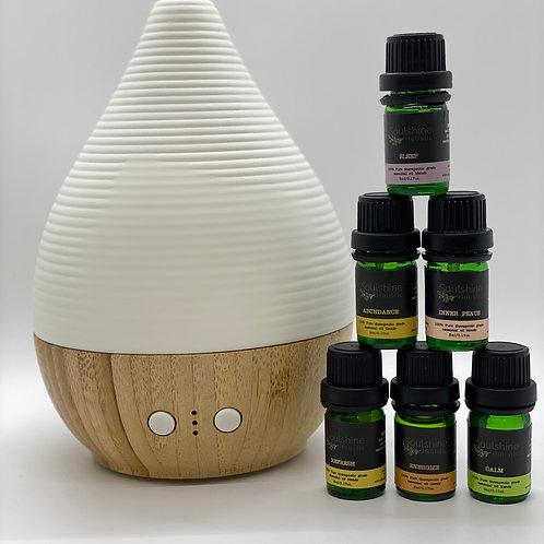 Soulshine Diffuser & Set Of 6 Essential Oils Blends