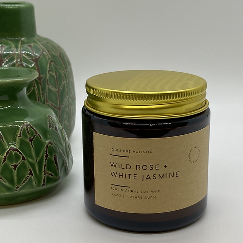 Wild Rose + White Jasmine Candle