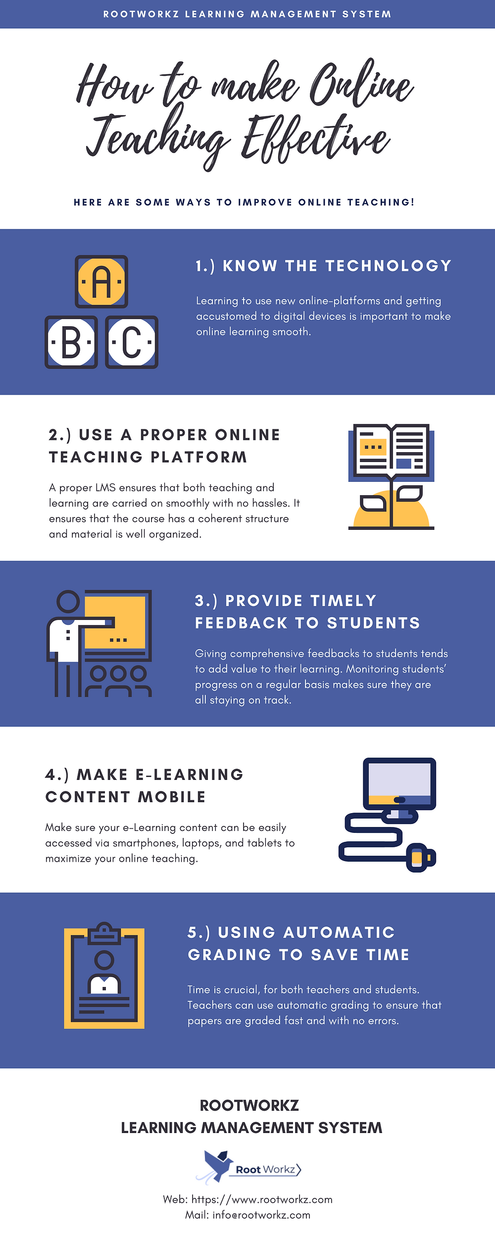 RootWorkz tips to make online teaching effective