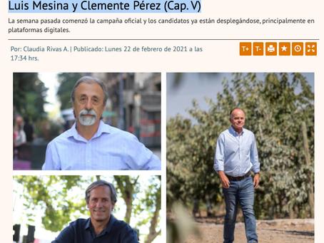 """""""Candidatos Constituyentes en cinco claves"""", artículo aparecido Diario Financiero  (22/02/2021)"""