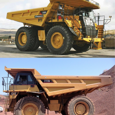 The clash of titans, comparing a CAT 777D with a CAT 777F