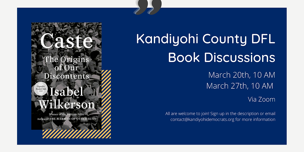 Kandiyohi DFL Book Discussion