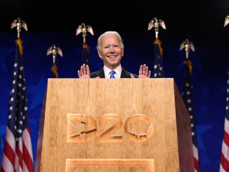 Biden Accepts DNC Nomination