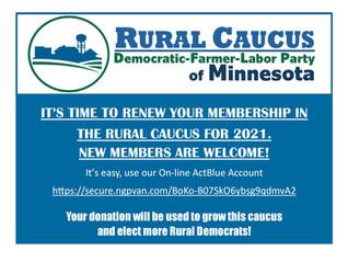 Renew Your Rural Caucus Membership Today!