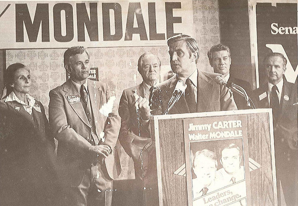 Walter Mondale Press Conference Image