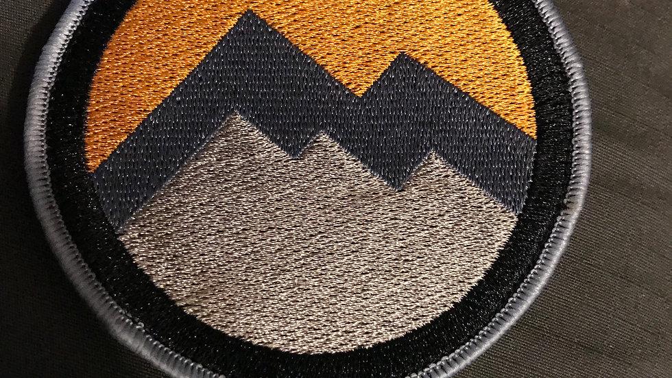Patch - round - orange/grey