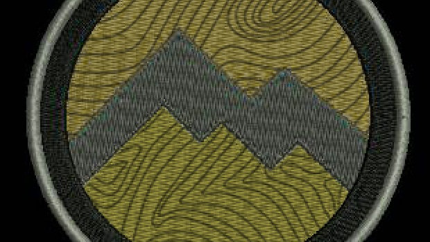 Patch - round - Topo Green