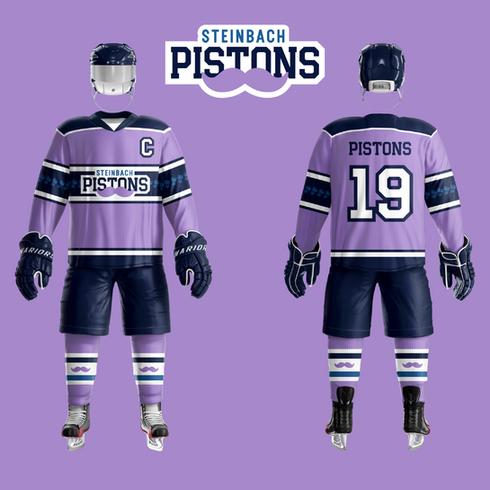 2019 Steinbach Pistons Movember Uniform