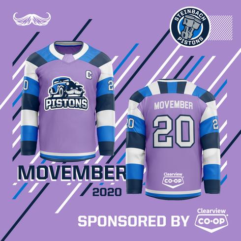 2020 Steinbach Pistons Movember Uniforms