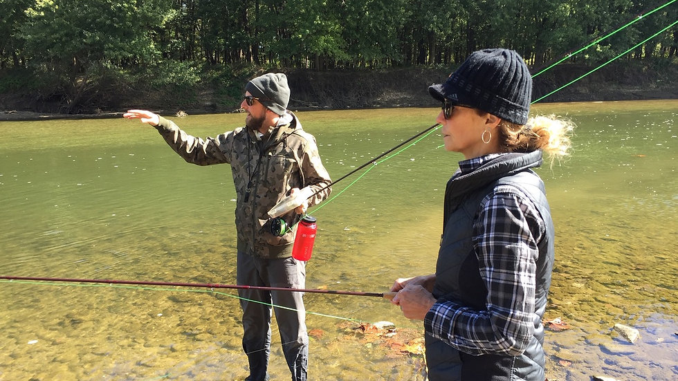 Private Guided Fly Fishing Cincinnati Experience (for 2)