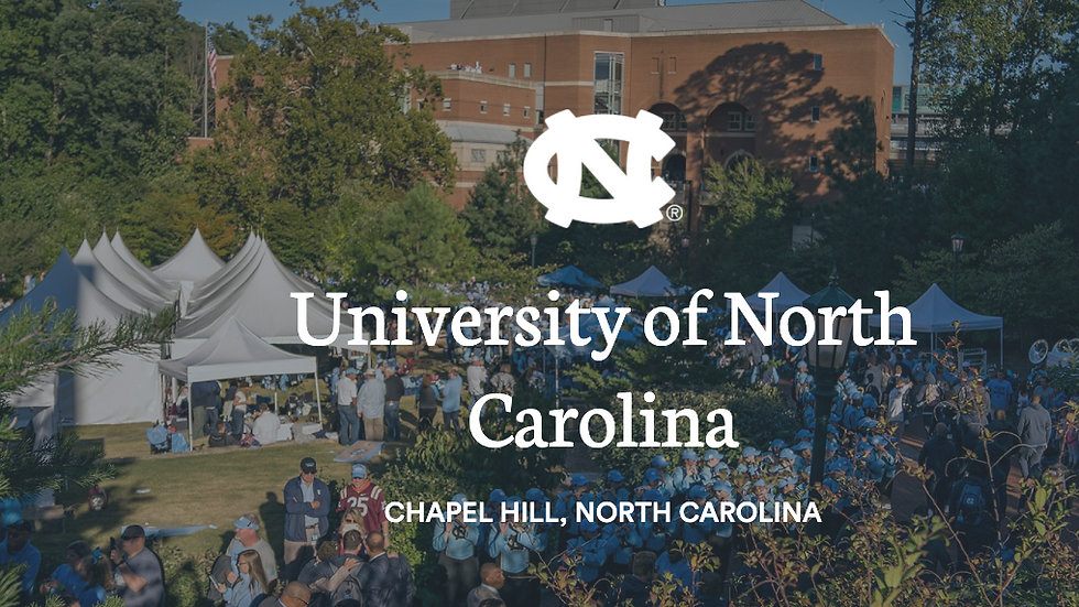 University of North Carolina Game Day Tailgate - COMING SOON!
