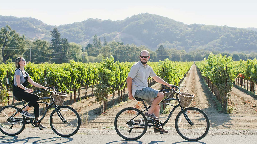 Sip and Cycle in Carneros (for 2)