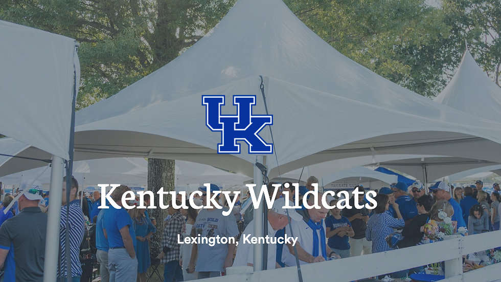 University of Kentucky Game Day Tailgate - COMING SOON!