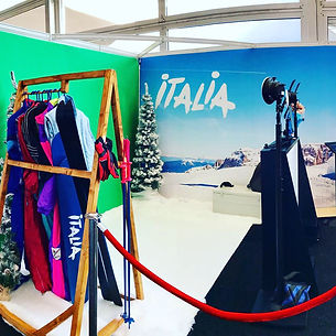 Ski themed photo booth hire