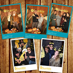 Bumble photo booth print outs