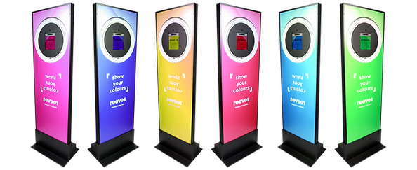 Branded photo booth in multiple colours