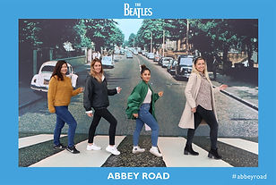 Photo Booth picture from the Beatles Abbey Road event