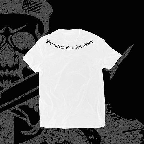 """""""Ringer"""" t-shirt in white"""