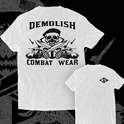 """War Path"" t-shirt in white"