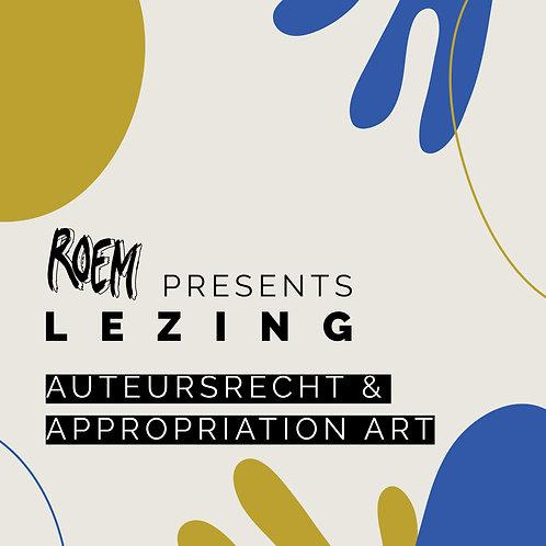 ROEM Presents Lezing: Auteursrecht & Appropriation Art - Toegangsbewijs Regulier