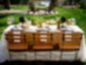 al fresco table setting