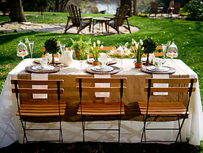 al fresco table setting
