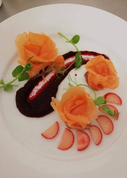 Cured Salmon and Beets