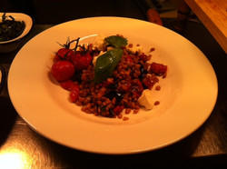 Roasted Tomato/Spelt & Labneh cheese
