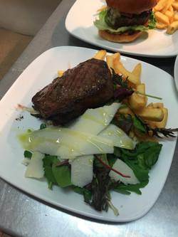 Ribeye Steak and chips