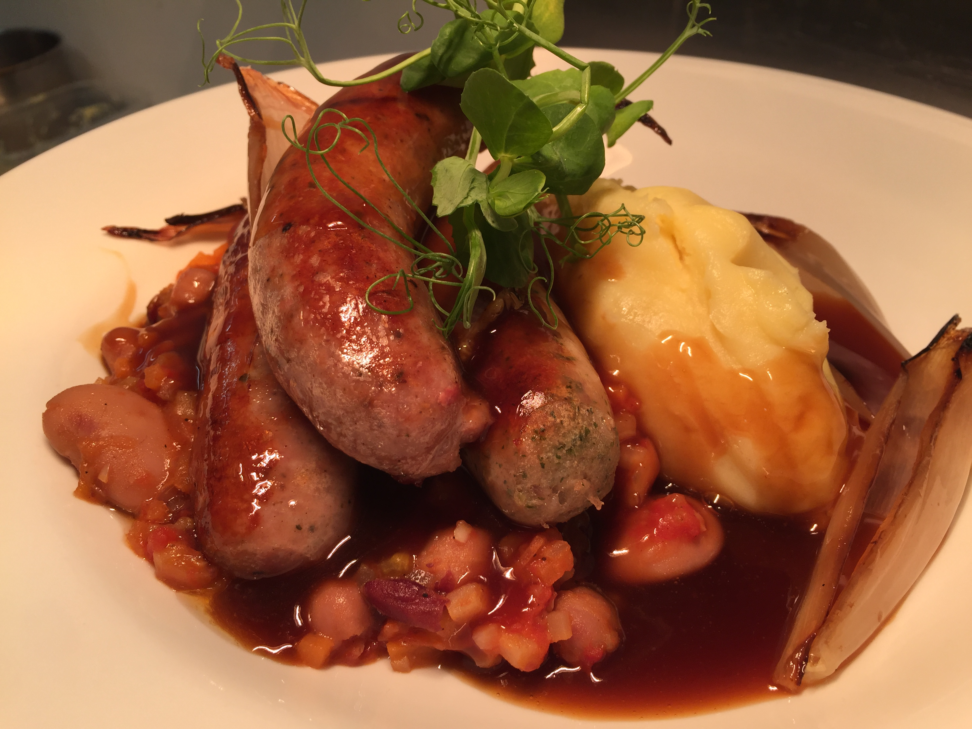 Trio of Sausages and Mash
