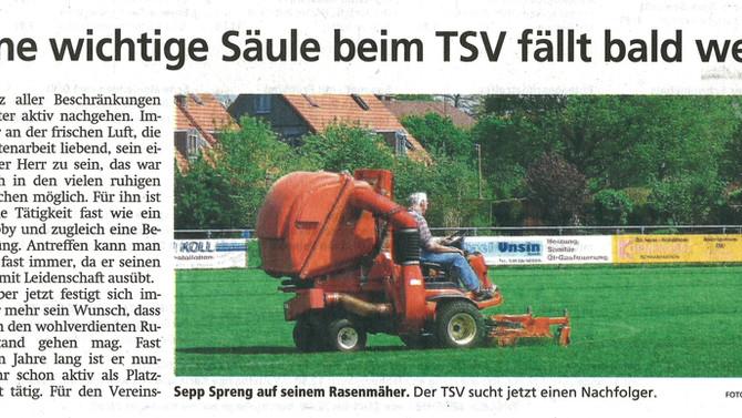 """Für """"eine wichtige Säule des TSV"""" muss Ersatz gefunden werden!"""