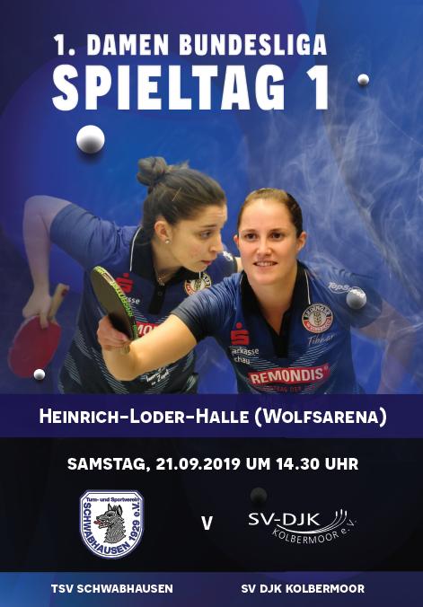 1. BUNDESLIGA: Saison-Start der Tischtennis-Damen am 21.9.2019