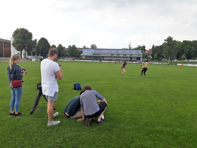 ...UND AKTION: Film-Aufnahmen am TSV Gelände!