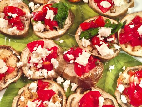 Melanzane Grigliate pomodorini e feta