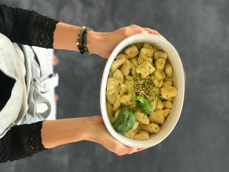 Gnocchi di patate con pesto di zucchine