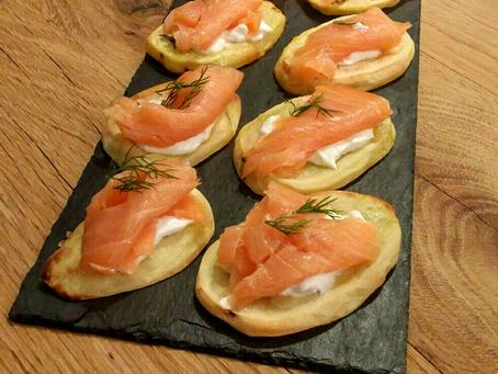 'Tartine' al salmone