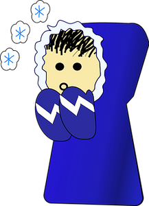 Cold, Person, Winter, Clothing, Blue
