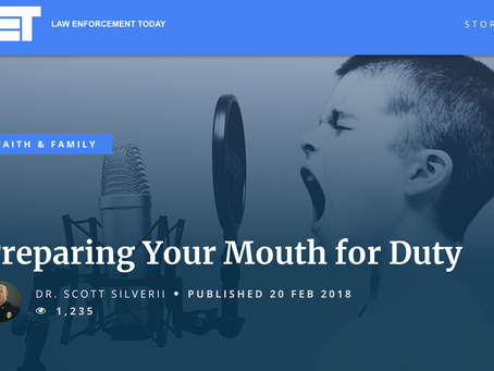 Preparing Your Mouth: Words of Life and Death