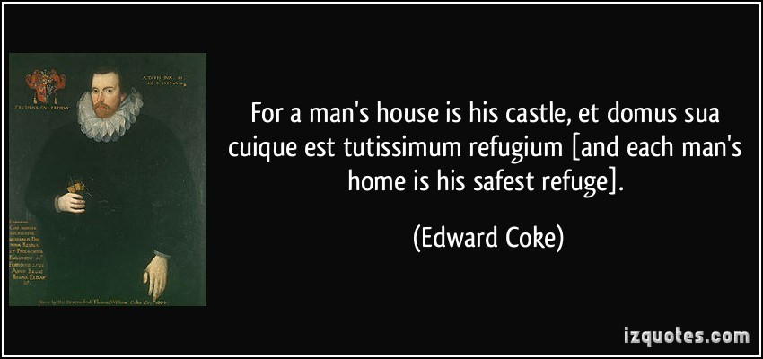 Image result for free images man's home is his castle