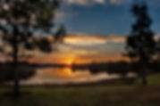 Picture of a sunrise over the lakes in Valhalla, Florida as a fine art nature print for the wall of your home or office.
