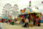 Picture of a part of the Florida State Fair midway in Tampa as a fine art nature print for the wall of your home or office.