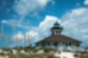 Picture of the Port Boca Grande Lighthouse on Florida's Gasparilla Island as a fine art print for the wall of your home or office.