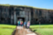 Picture of he Ft. Morgan sally port as a fine art print for the walls of your home or office.