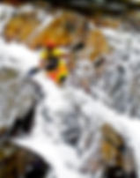 Picture of a kayaker running The Sinks on the Little River in the Great Smoky Mountains as a fine art print for the wall of your home or office.